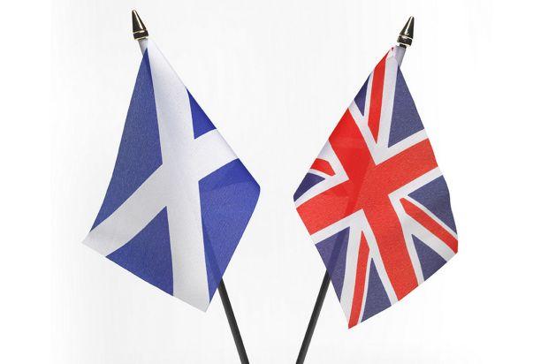 Scottish-independence-referendum-flags