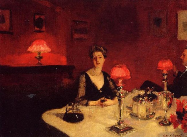 Sargent, John Singer, A Dinner Table at Night, 1884