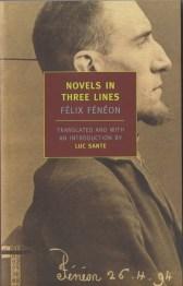 novels in 3 lines